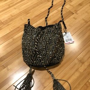 NWT mango sequin purse